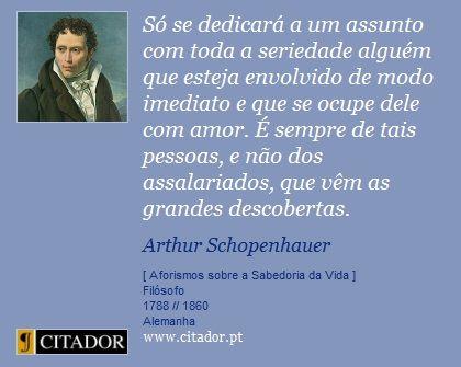 Resultado de imagem para frases de schopenhauer sobre liberdade