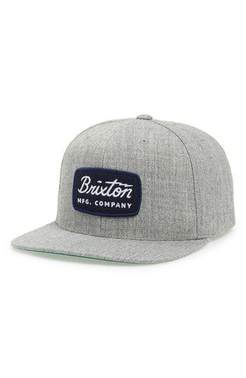 155a3c224c1 BRIXTON  JOLT  SNAPBACK CAP - GREY.  brixton