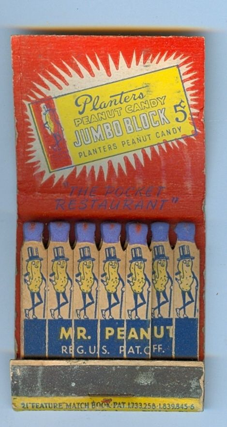 Planters Peanuts #FeatureMatchbook To order your business' own branded #matchbooks or #matchboxes GoTo: www.GetMatches.com or Call 800.605.7331 Today!