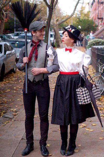 I am so jealous of this couple, I have wanted to do Mary Poppins for Halloween for 4 years now! and they're so darn cute!