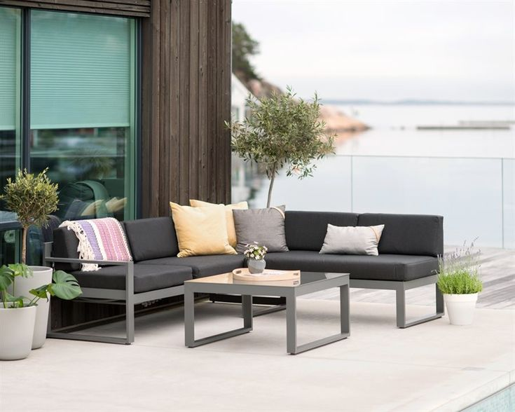 (6) FINN – Trendy hagesofa i aluminium hagemøbler