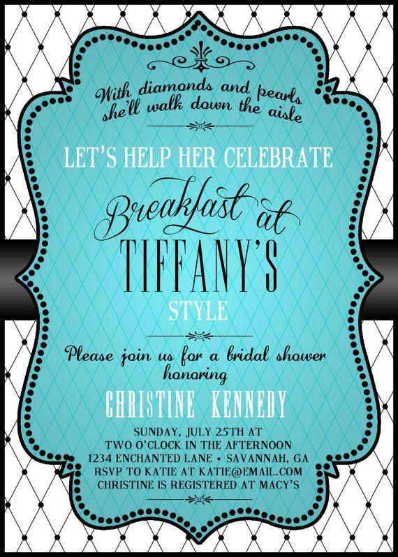 Breakfast at Tiffanys Bridal Shower by EnchantedDesigns4U on Etsy