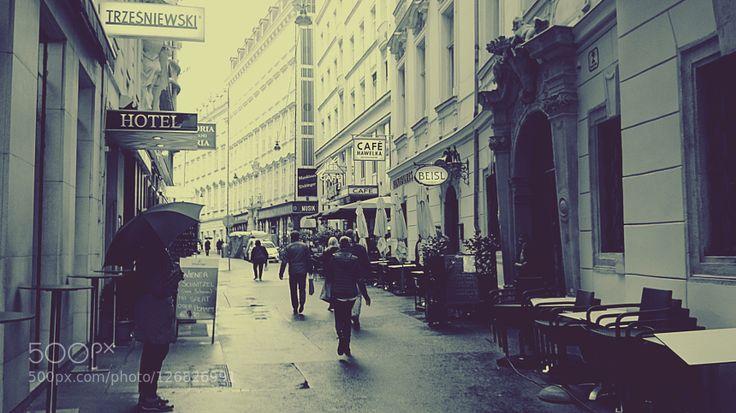 #architectureaustriablack and whitebuildingcitycityscapeeuropeoldsteettravelurbanvienna #mirjanablagojevic (October 28 2015 at 08:49PM) Wien Innenstadt