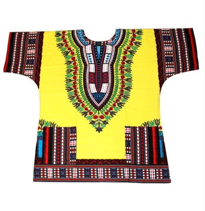 New African Dashiki Fashion Design African Traditional Floral Print Dashiki Dress(fast shipping)