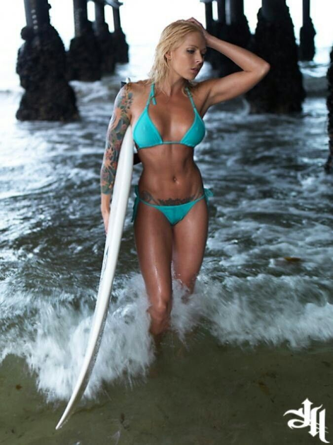 hot naked surfer chick