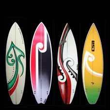 Surfboards-have friends paint surfboard cutouts & bring to party