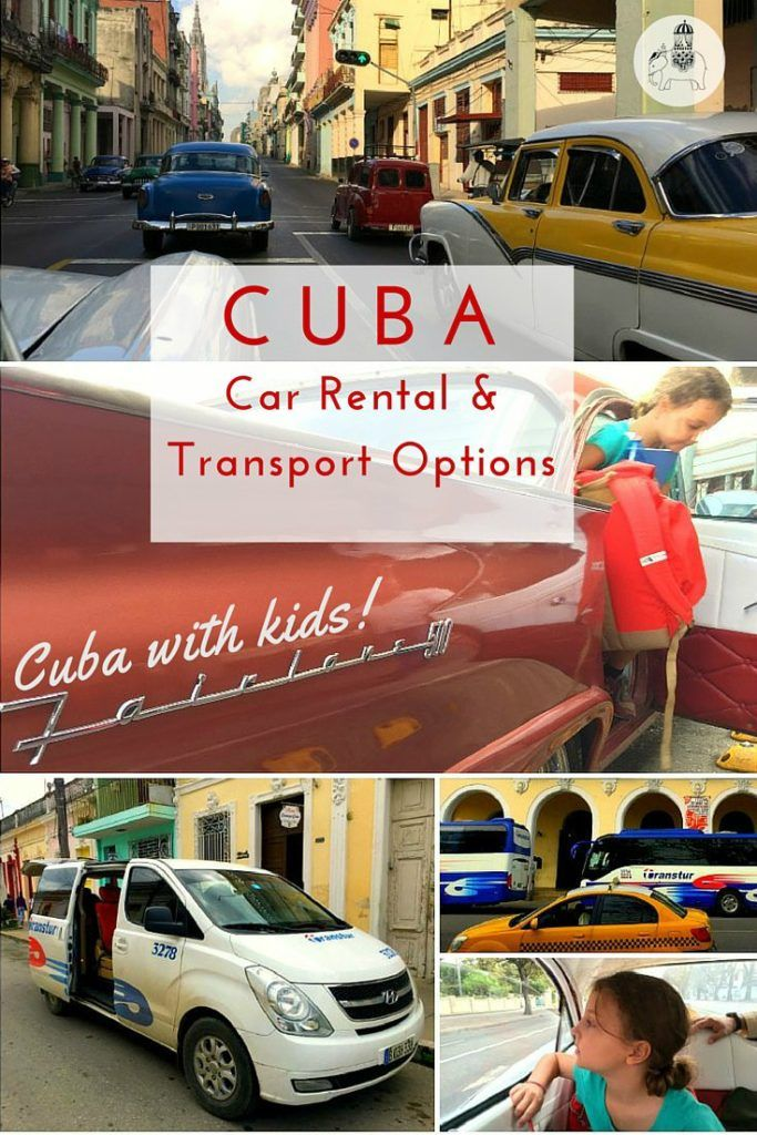 Cuba With Kids: Car Rental and Transport Options for Getting Around. A guide to the four main options of transport in Cuba: 1) Car (including car rental and car + driver), 2) Taxi 3) Bus and 4) Train.