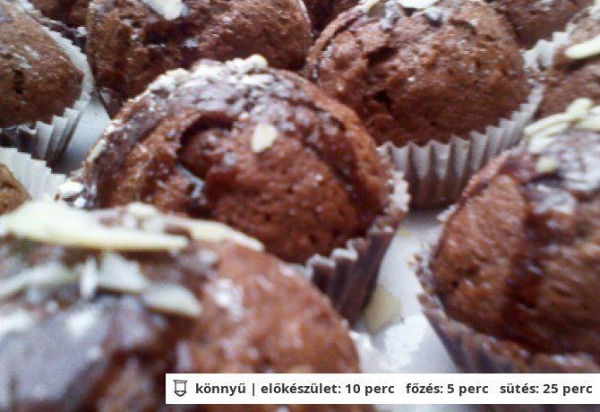 Mézes-kakaós muffin