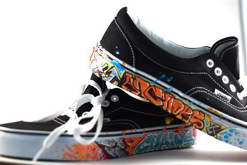 A different take on customization. Custom vans. Graffiti. Street art. Vandalism.