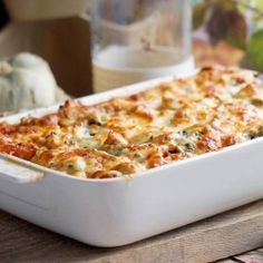 Salmon and Spinach Lasagna - scroll down the page to see the English version of the recipe.