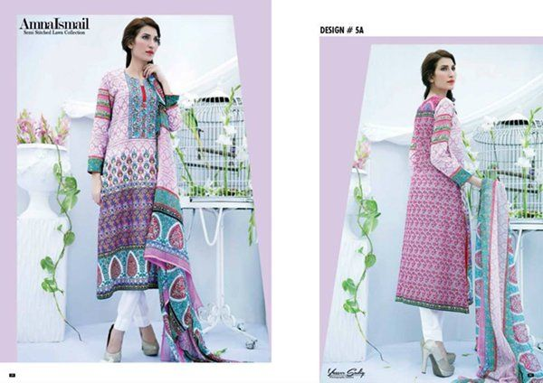 Latest Lawn embroidery Girls Dresses by Amna ismail (6)