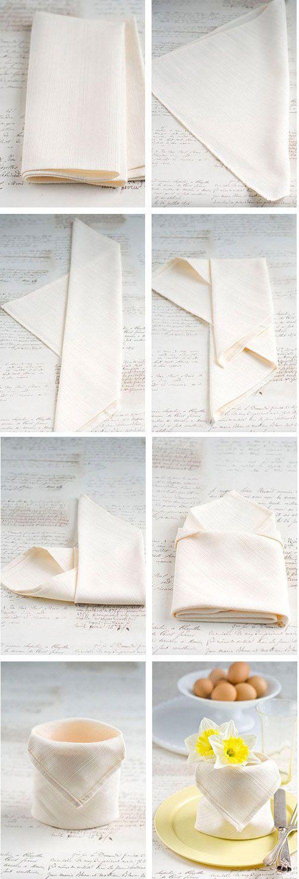 35 Beautiful Examples of Napkin Folding  <3 <3