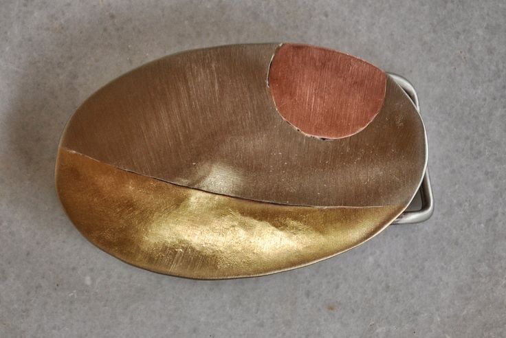 "Handmade casual belt buckle in brass, copper and alpaca ""metales casades"" by TakisBrass on Etsy"