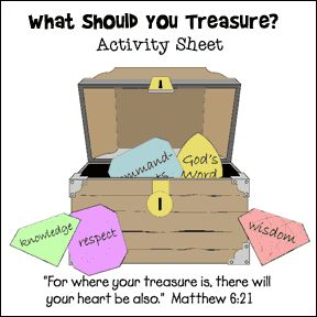 Treasure Chest and Gem Bible Activity Sheet from www.daniellesplace.com