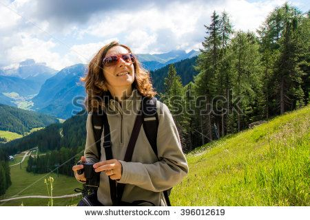 #woman #looking #mountain #landscape #summer #nature #girl