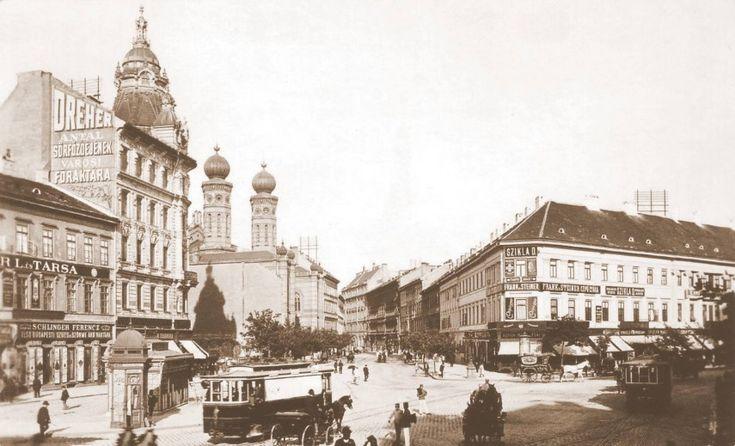 1900 táján, Károly körút, 7. kerület