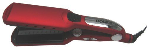 "Conair Tourmaline Ceramic Straightener with Straightening Comb, Red, 2 Inch by Conair. $26.25. Auto shut off. Wet/Dry on/off touchpad power buttons with LED indicator lights. Professional length swival cord. 2"" Tourmaline ceramic plates glide across hai easily, distributing heat evenly for silky, smooth professional results. Dual voltage. Dry, detangle and straighten your hair, all in one step with the 2"" Wet/Dry Tourmaline Ceramic straightener from Conair.  Tourmaline Cera..."