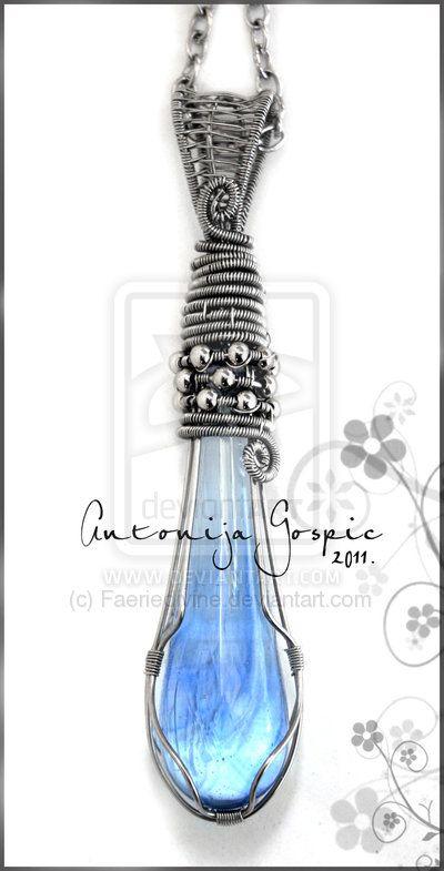 Blue Magic pendant by Faeriedivine.devi...