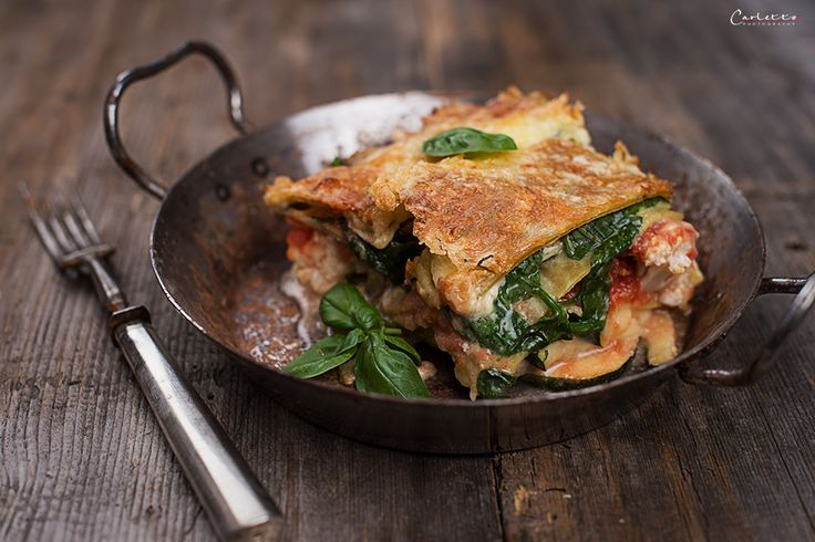 Gemüse Lasagne mit Blattspinat