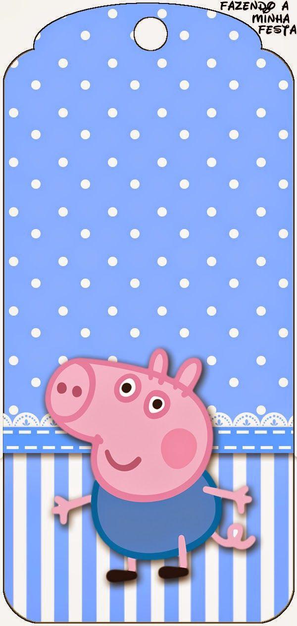 George Pig: Imprimibles para Fiestas Gratis e Imágenes.
