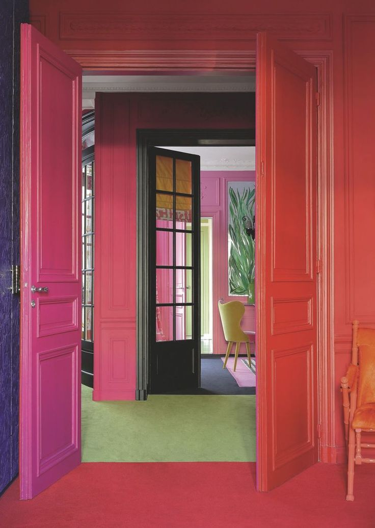 Chambre rose magenta for Chambre fushia orange