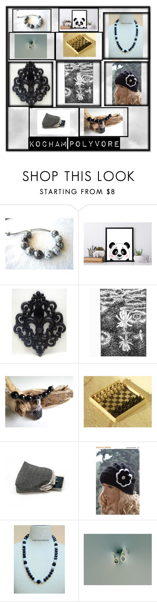 Black & white etsy treasury by dorota-kujawa on Polyvore featuring etsy, polyvorecontest and yoinscollection