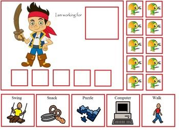 Autism Jake The Pirate Token Board