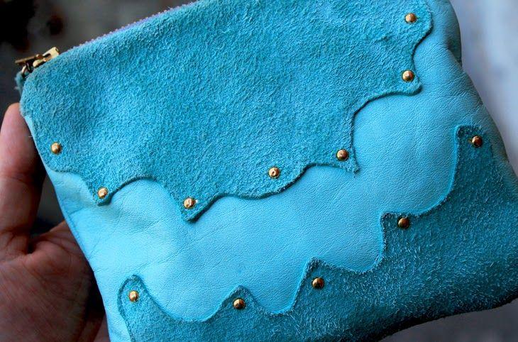 Simple leather bag and wallet ♥ helt og aldeles: DIY