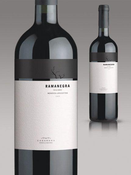 Wine Labels Design - Ramanegra Malbec - Mendoza Argentina #cCreams