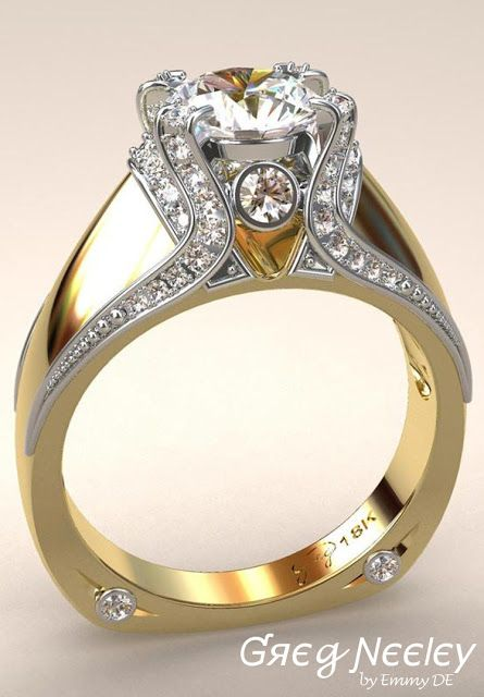 Brilliant Luxury by Emmy DE * Greg Neeley Italian Top Ladies Diamond and 18k Ring
