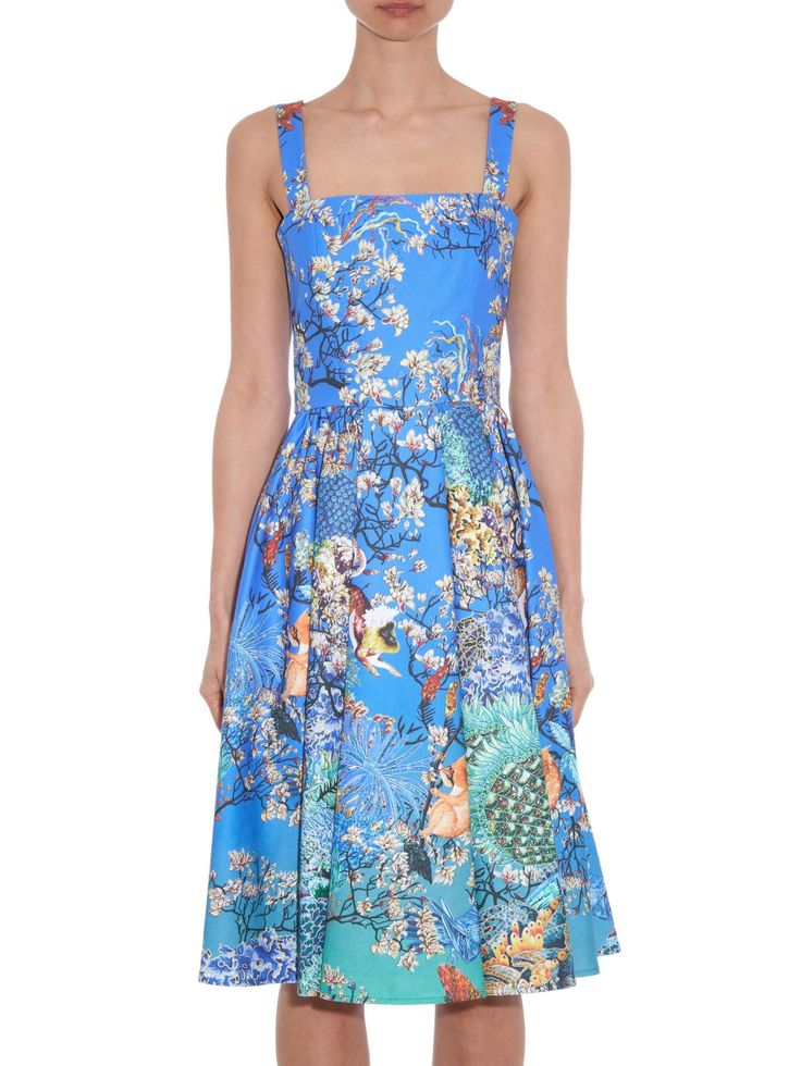 Favry Ramora Ocean-print dress | Mary Katrantzou | MATCHESFASHION.COM US