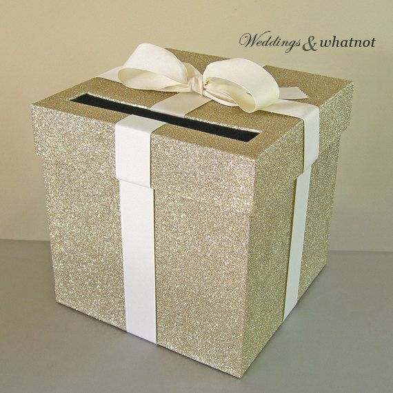 Hey, I found this really awesome Etsy listing at https://www.etsy.com/listing/240879775/light-gold-and-ivory-wedding-card-box