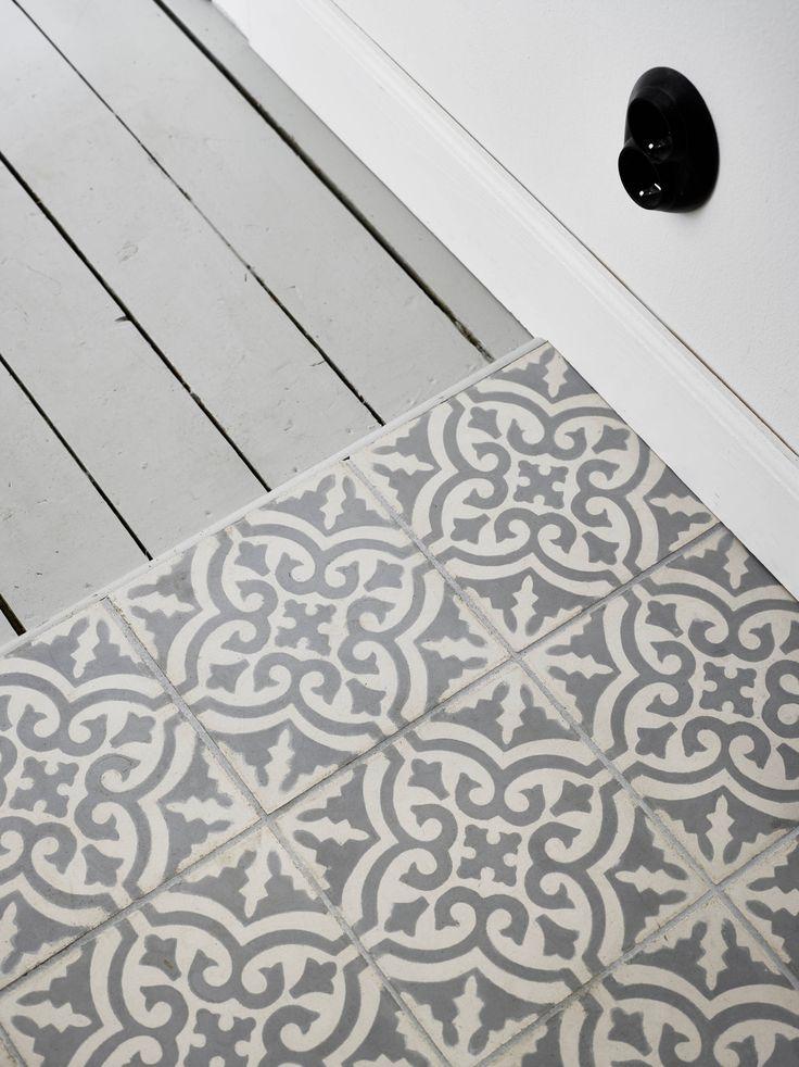 Tile to wood floor