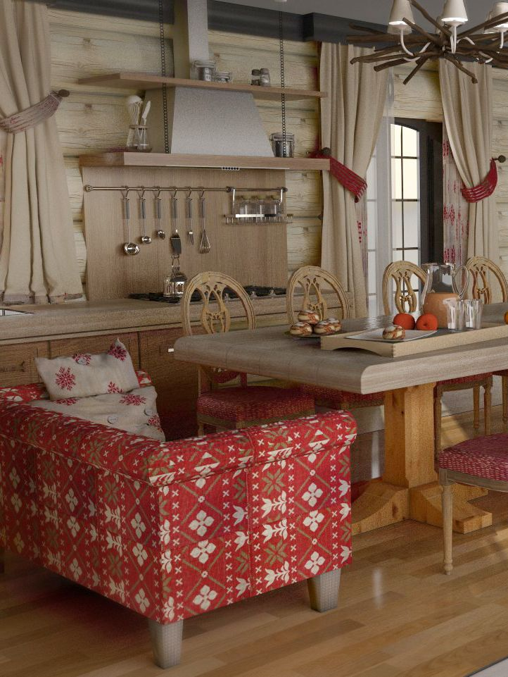 Rustic, Traditional Chalet Decor - Kitchen