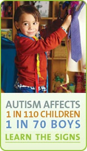 Autism Speaks. Autism affects 1 in 110 children. 1 in 70 boys! It affected my child. These kids can be recovered. There is hope and help.