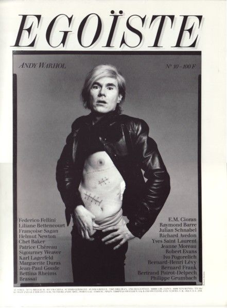 Richard Avedon's portrait of Andy Warhol #warhol #avedon #photography #magazine
