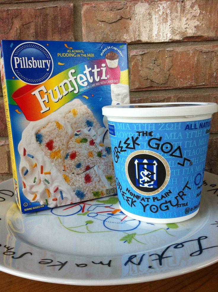 Best Cupcake Recipe: Made with Greek Yogurt = healthy option!  (only three ingredients)