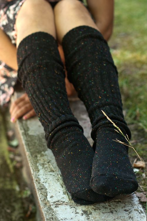 Our favorite Slouch Socks are now available in this gorgeous confetti pattern, and we can hardly contain our excitement over finding this beautiful yarn!!