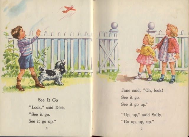 Dick and Jane--run Spot, run! What we read in elementary school!