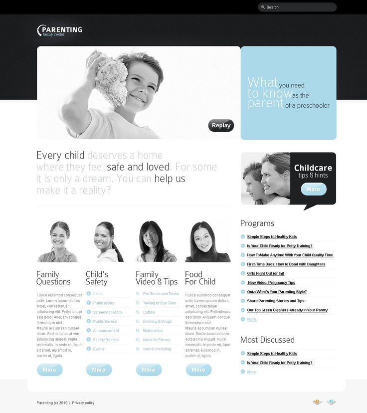 Parenting Family Website Templates by Astra