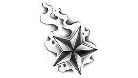 Tatuaje de Estrella náutica  //  GUÍA Y PROTECCIÓN. En el hemisferio norte tiene especial importancia la Estrella Polar , y en el hemisferio sur se empleaban varios grupos de estrellas y en especial la constelación conocida como la Cruz del Sur. Simboliza la idea de guía y protección de la persona que los luce.