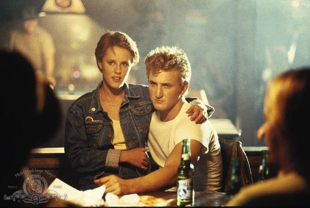 Mary Stuart Masterson and Sean Penn in At Close Range.  Sometimes it seems like the film is about navigating smoke and shafts of light, many scenes are painterly in the extreme.  This one is not generally represented by web-stills but here's a good one.