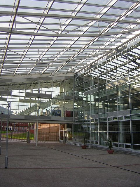 New College, Redditch  Curtain walling, rooflight, windows and automatic doors by Duplus Architectural Systems Ltd. Tel 0116 2610 710 or visit www.duplus.co.uk