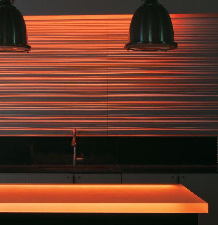 Edge-lit Chroma bar top with RGB Lighting  #3form #MaterialRepublic #InteriorDesign #Design