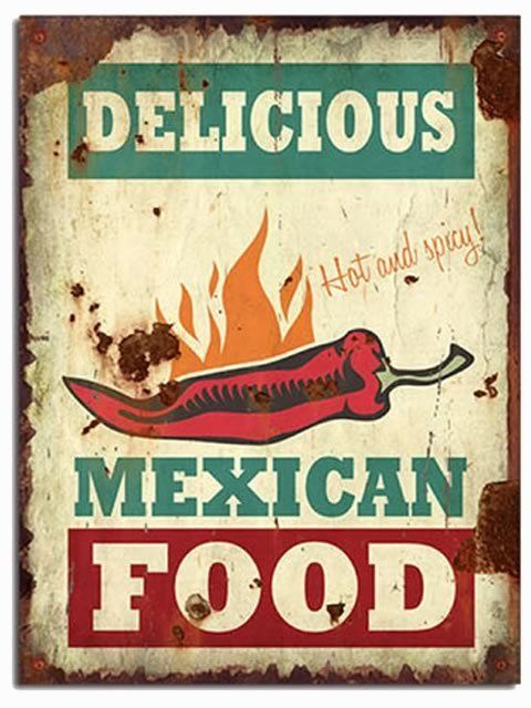Delicious mexican food spicy spanish quot wall wood