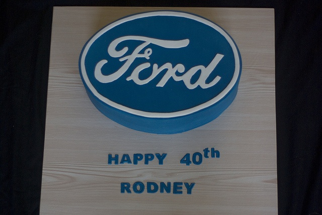Ford Logo Cake by mags20_eb, via Flickr