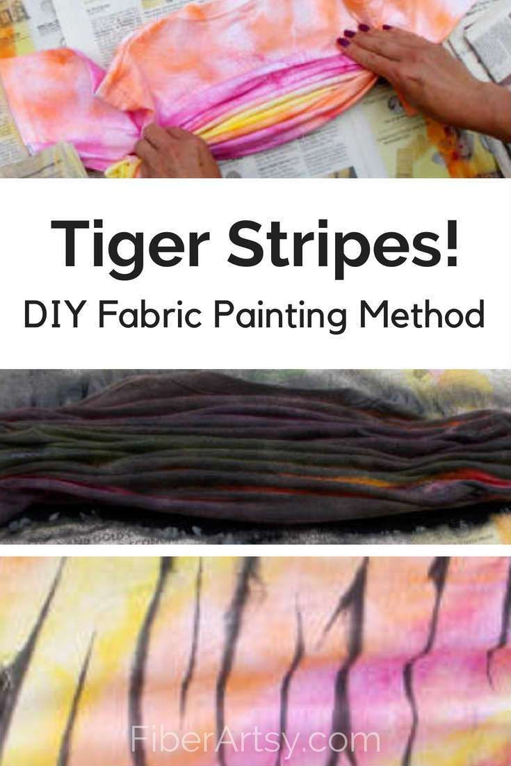 DIY Painted Tiger Stripes, eine lustige Stoffmaltechnik. Tolles Teen Projekt! …   – DIY Fabric Crafts and Sewing