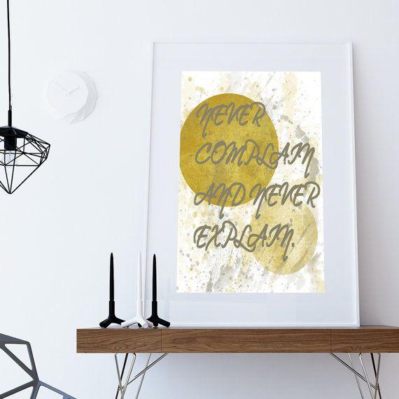 INSTANT DOWNLOAD Never complain Inspirational di DamaDigitalDesign