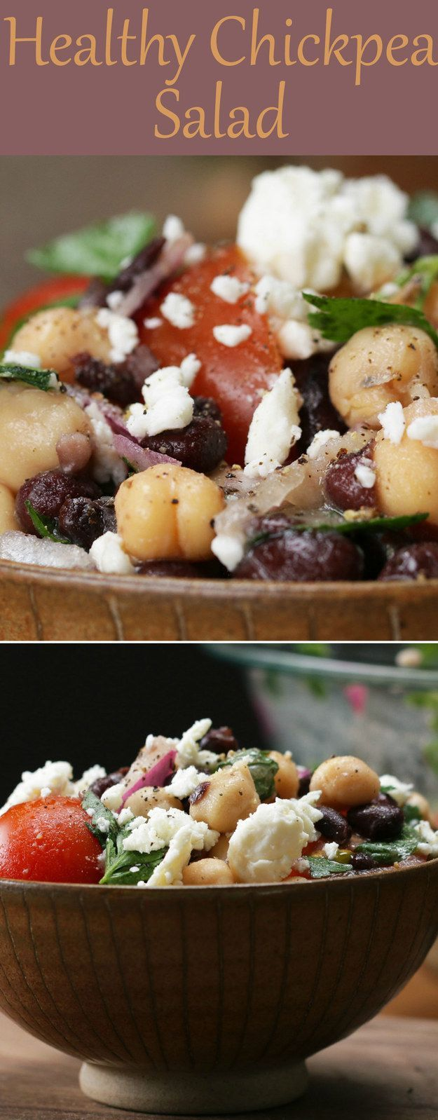 Healthy Chickpea And Black Bean Salad
