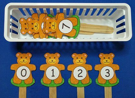 Teddy Bear Number Sequence Sticks (from Childcareland)